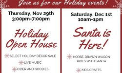 Holiday events at Drummers Garden Center and Floral