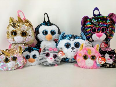 Ty plush back packs and purses