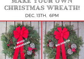 Christmas wreath make and take