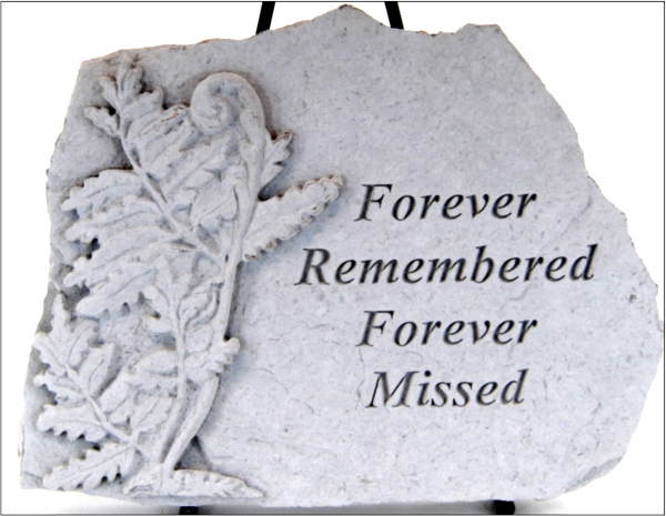 "forever remembered forever missed stepping stone 10.75"" inch"