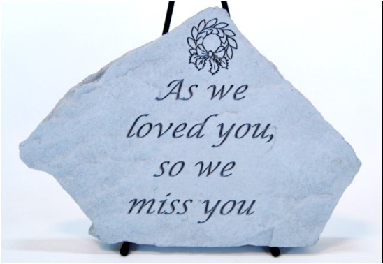 "11""x8""-stepping stone-as we loved you"