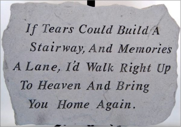 Memorial stepping stone 12 x18