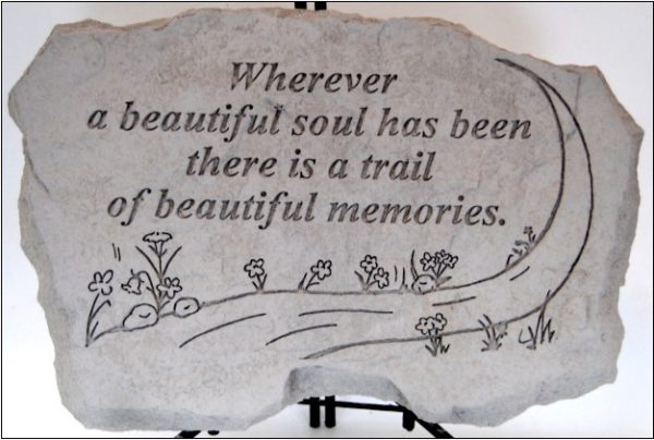 "16""x10""-stepping stone-wherever a beautiful soul"