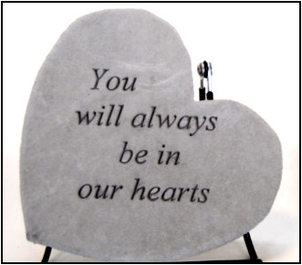 """6.75""""x6.5"""" Heart Shaped Stepping Stone"""