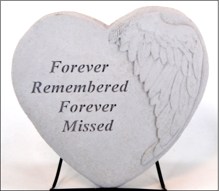 forever remembered forever missed heart shaped stepping stone