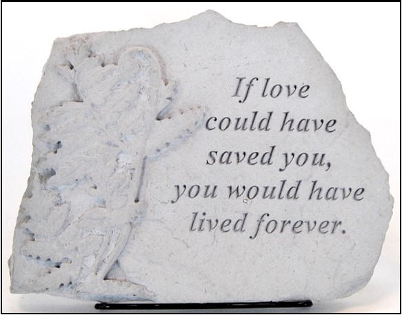 "9.5""x7""-stepping stones-if love could have saved you"