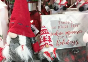 christmas gnomes by there's no place like mankato,minnesota for the holidays
