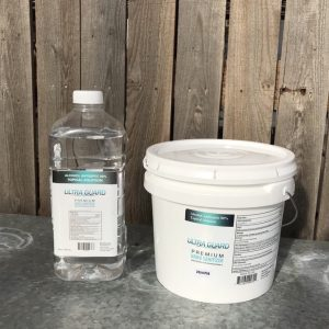 1/2 gallon and 1 gallon bucket