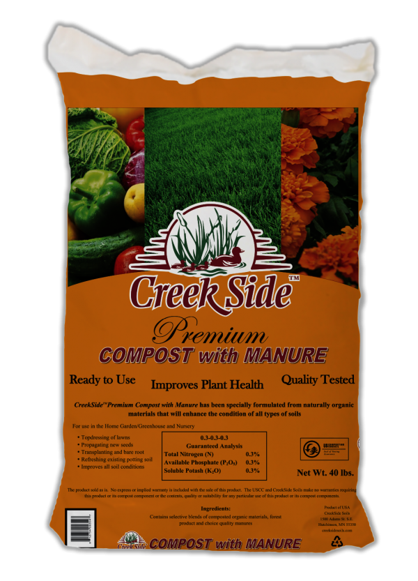 creekside premium compost with manure