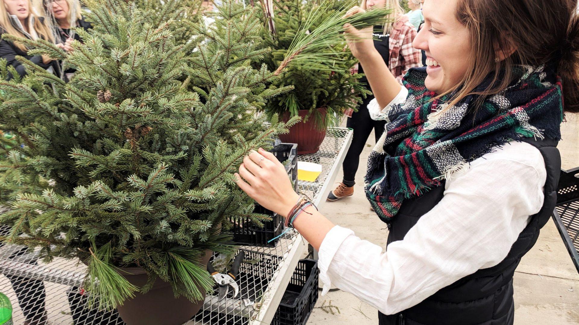 spruce top pot workshop participant