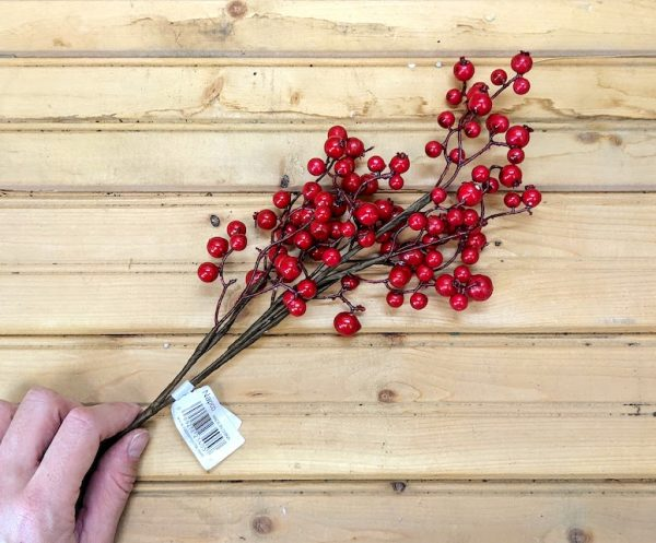 red faux berries