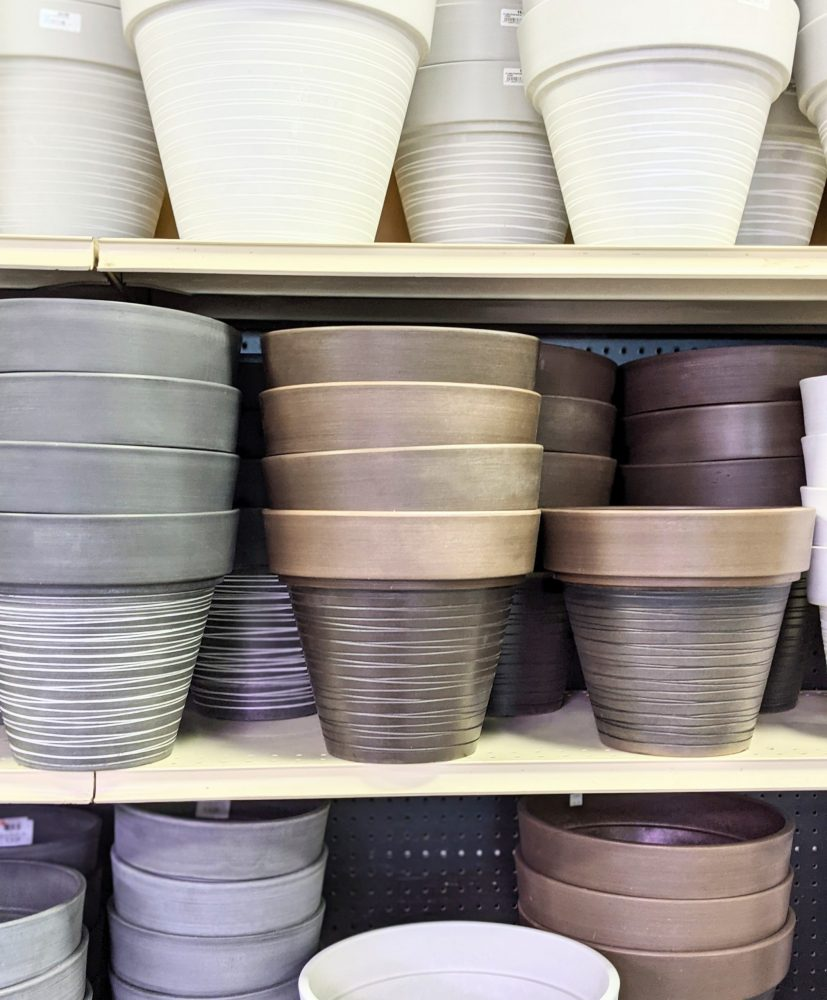 Outdoor pots have arrived