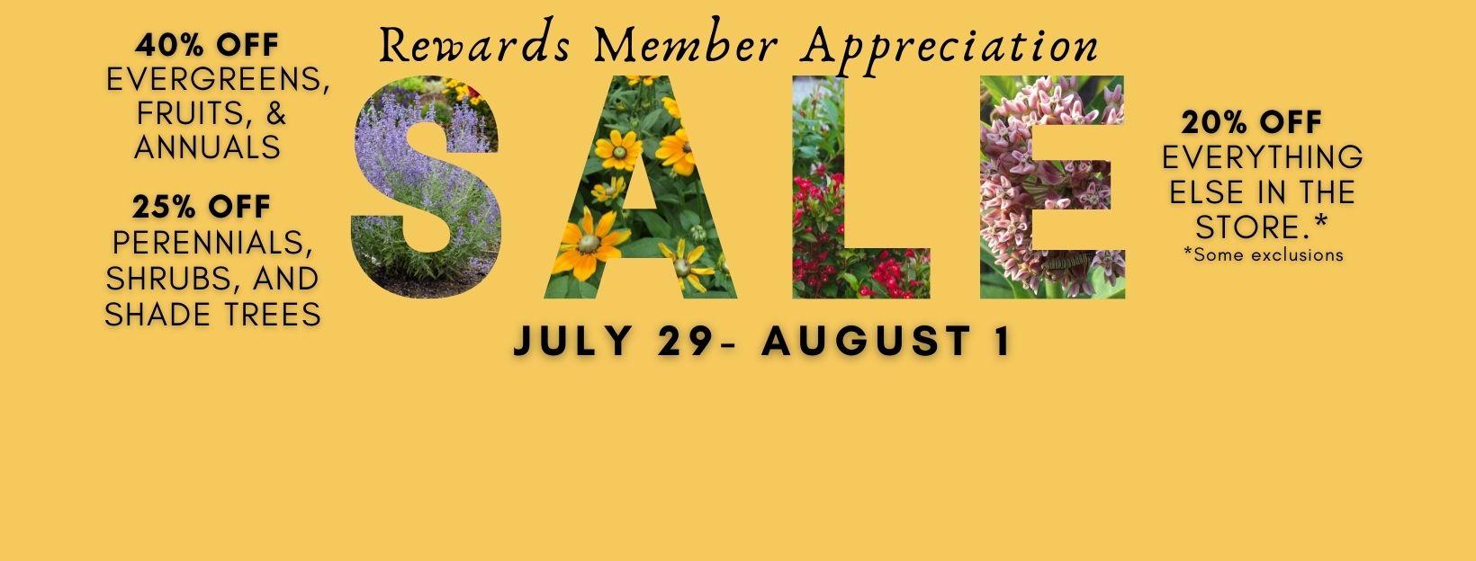 Rewards Member Appreciation Sale